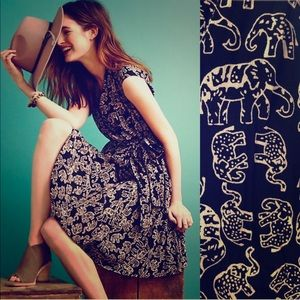 NWT Anthropologie Maeve Noronha Elephant Dress